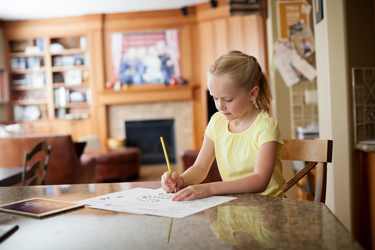 Child Studying Music